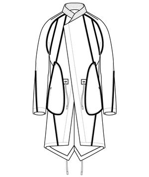 Abasi Rosborough SS17 EPOCH ARC PARKA Technical Sketch