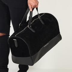 Maniere De Voir SS17 Suede Travel Bag